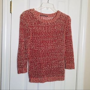 🌹Nordstrom Rubbish red & cream knit Sweater